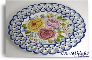 Lace oval dish